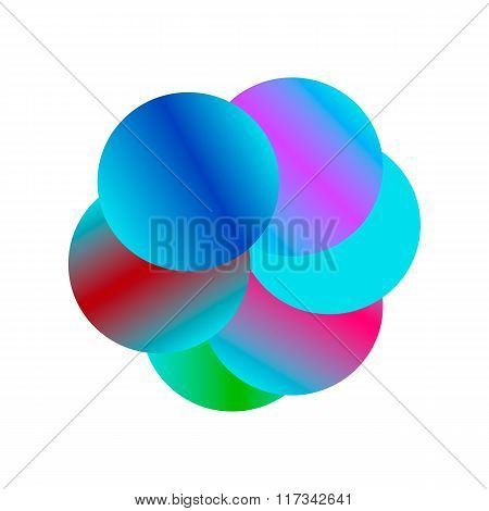 vector colorful soap bubbles on a white background