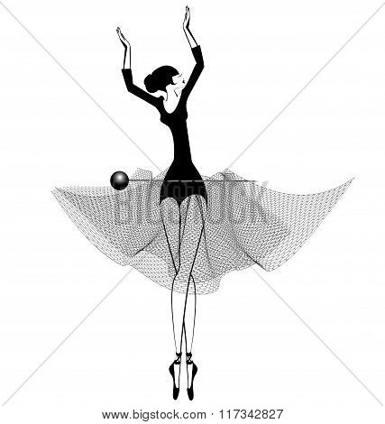 ballet girl and pin