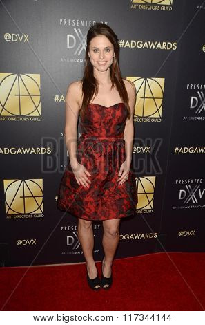 LOS ANGELES - JAN 31:  Kelsey Reinhardt at the Art Directors Guild 20th Annual Excellence In Production Awards at the Beverly Hilton Hotel on January 31, 2016 in Beverly Hills, CA