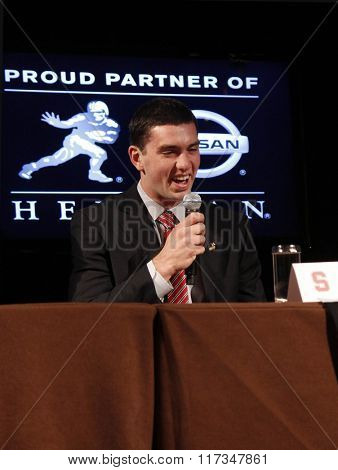 NEW YORK-DEC 11: Stanford University Cardinals quarterback Andrew Luck attends the 2010 Heisman Memorial Trophy Award press conference at the Marriott Marquis on December 11, 2010 in New York City.