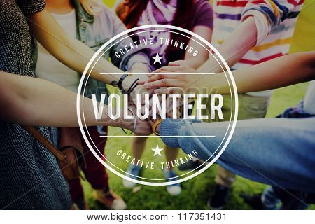 Volunteer Help Charity Assist Aid Giving Relief Concept