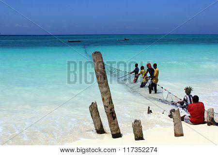 Fish Market On The Beach
