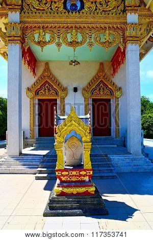 Kho Samui   Thailand Incision Of The Buddha Gold