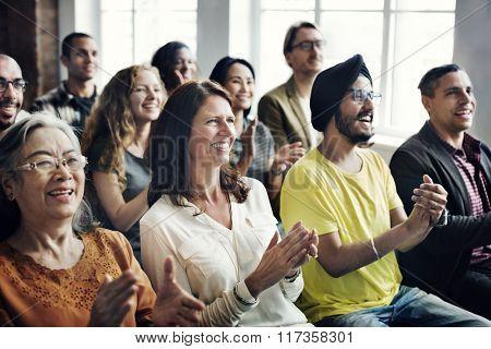 People Audience Diversity Group Presentation Concept