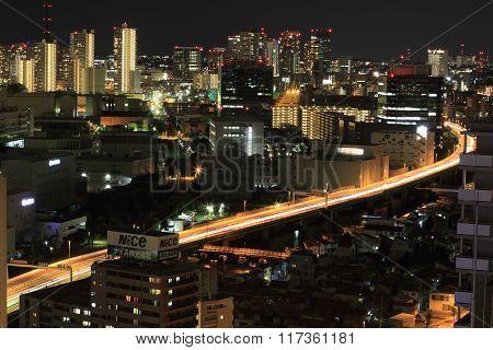 Tokyo metropolitan expressway (night scene)