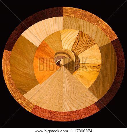 real wood and laminated samples