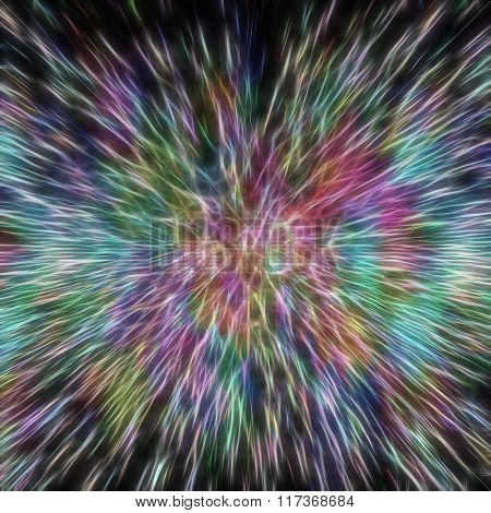 Futuristic abstract background of colorful lines and shapes