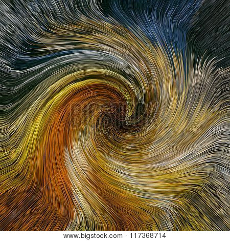 Abstract artistic background of twirl colors