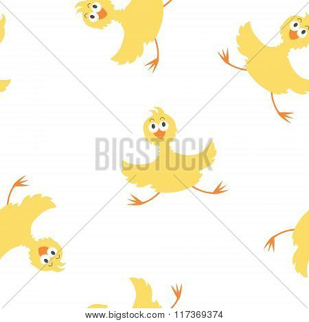 Yellow chicken pattern
