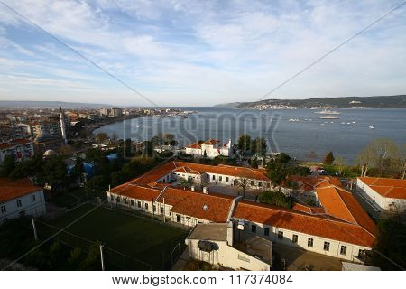 Canakkale City in Turkey.