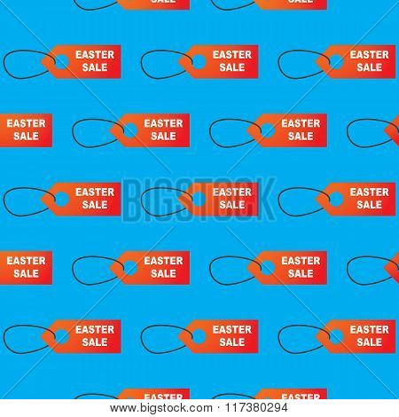 Seamless Easter Pattern With Sale Stickers