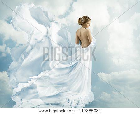 Women Fantasy Flying Gown, Waving Dress On Wind