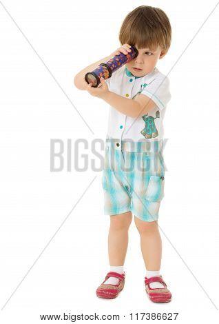 Boy spinning Kaleidoscope