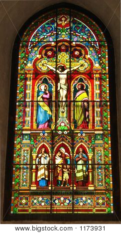 Stained-Glass Window Religious Picture