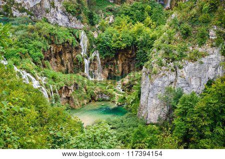 Waterfalls in Plitvice Lakes National Park, Croatia