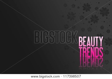 Pink Text For Advertising - Product Presentation - Beauty Background With Flowers