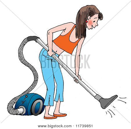 Cleaning With The Vacuum Cleaner