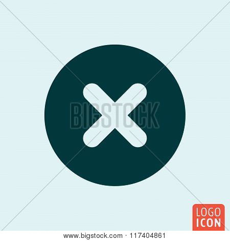 X mark icon design