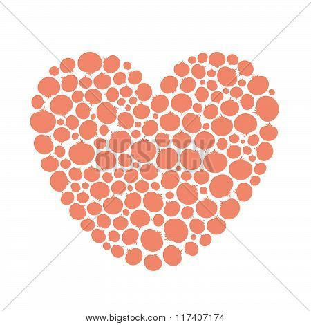 Tomato Love Vegetable Heart
