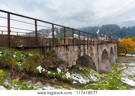 Viaduct Was Built During The Austro-hungarian Empire In The Village Of Vorokhta, Ukraine