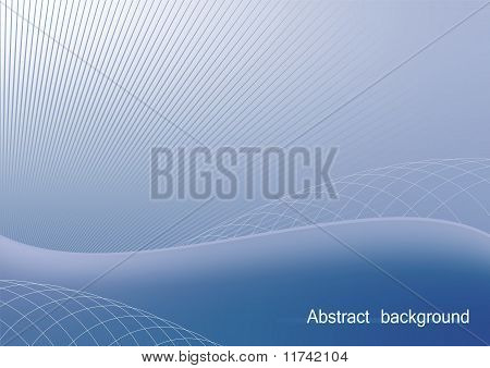 Illustration The Blue Abstract Background For Design Bussines Card And Invitation Company Style