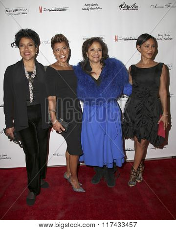 LOS ANGELES - FEB 4:  Phhlicia Rashad, Guest, Debbie Allen, Jada Pinkett-Smith at the Freeze Frame Premiere at the Wallis Annenberg Center  on February 4, 2016 in Beverly Hills, CA