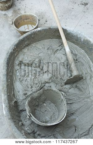 Plaster Cement Concrete Poured Mixer For Residential Building Construction