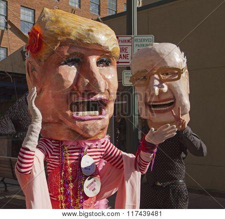 Trump And Bernie Hit The Mardi Gras Campaign Trail