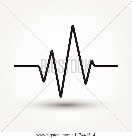 Electrocardiogram, Ecg Or Medical Icon Vector