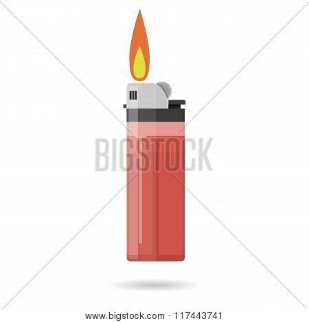 red pocket lighter