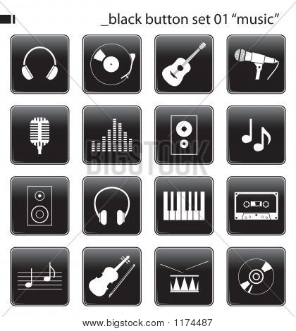 Black Button Set 01