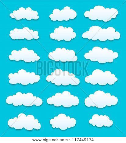 Cartoon White Clouds