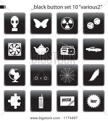 Black Button Set 10