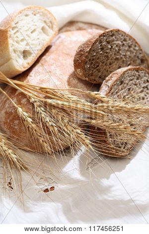 Freshness Bread On Tablecloth