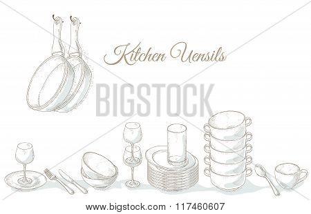 Stack empty plates