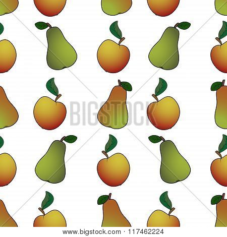 Pear Apple Abstract