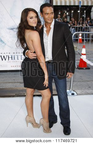 Mark Dacascos and Lacey Schwimmer at the Los Angeles Premiere of