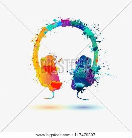 watercolor headphone