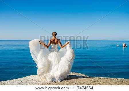 Bride On The Sea Background
