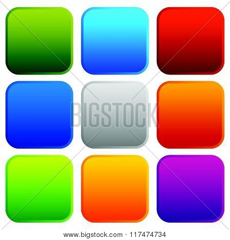 Colorful Button, Badge Backgrounds With Blank Space. Vector