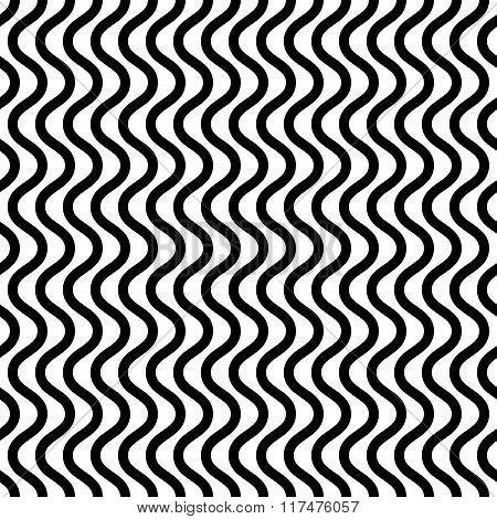 Repeatable wavy zigzag vertical lines in parallel fashion. poster