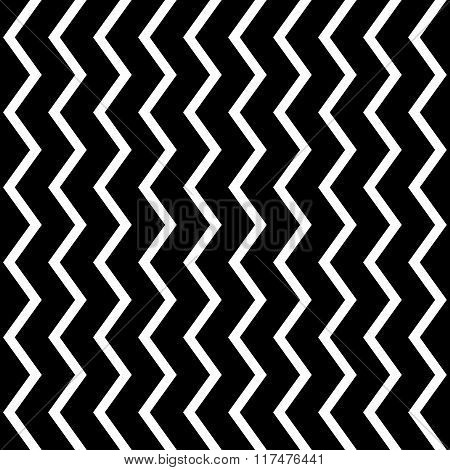 Repeatable Wavy, Zigzag Vertical Lines In Parallel Fashion.