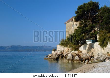 Monastery Rocky Coastline Croatia