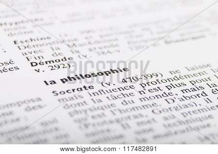 Dictionary At The Word Philosophy