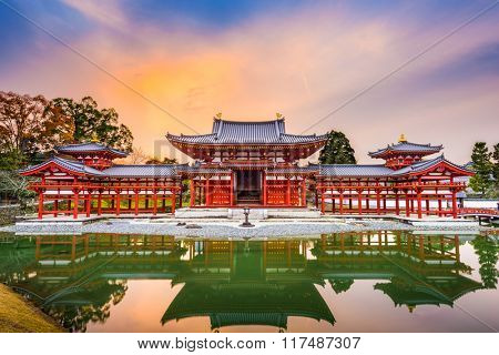 Kyoto, Japan at Byodoin.