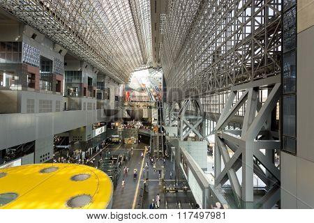 Inside Kyoto Station Atrium Horizontal