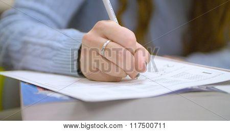 Student prepares for SAT standardized test