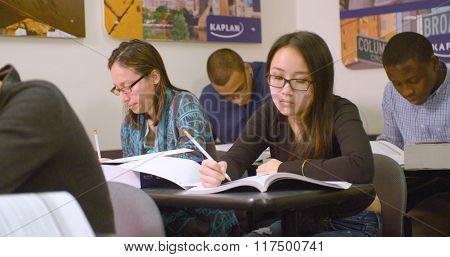 Students practice for SAT standardized test