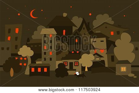 Night City. Vector