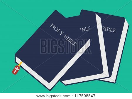 Bible vector image, Bible closed vector illustration
